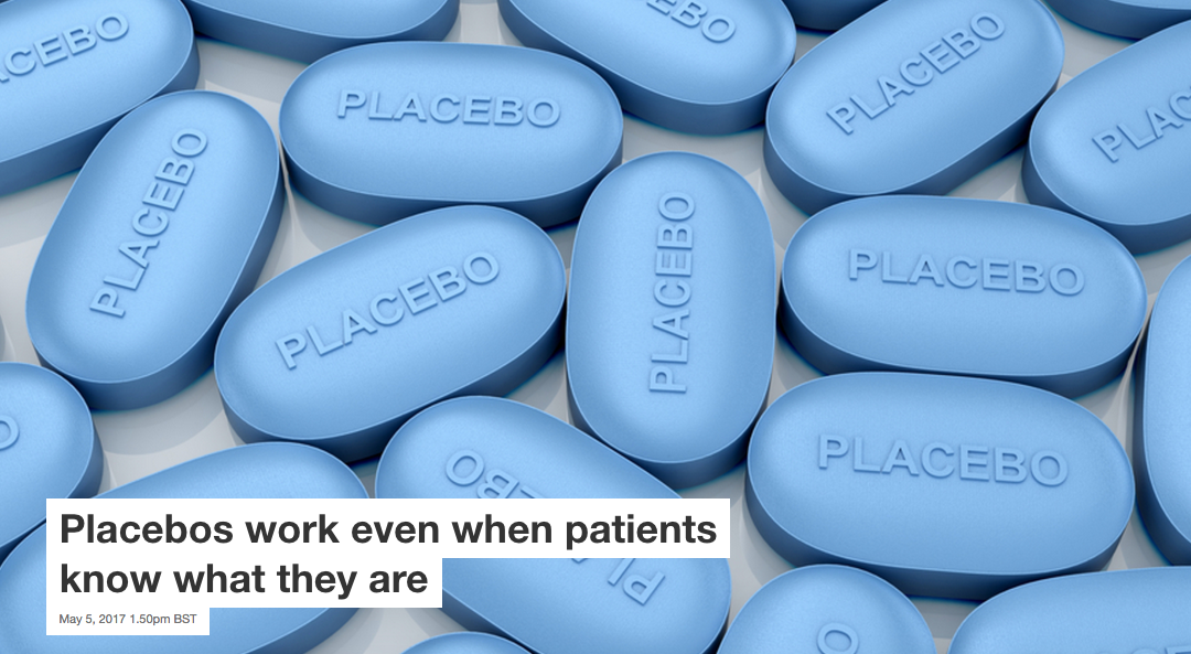 Placebos work even when patients know what they are